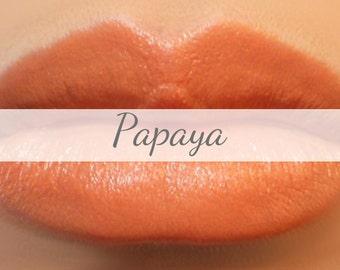 "Peach Lipstick Sample - ""Papaya"" (a light orange peach color, Vegan) lip tint, balm, lip colour, natural lipstick"