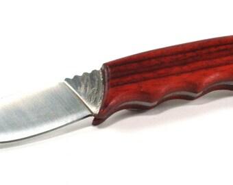Padauk Handled Drop Point Hunting Knife