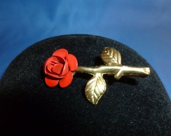 Great little Red Rose Brooch.