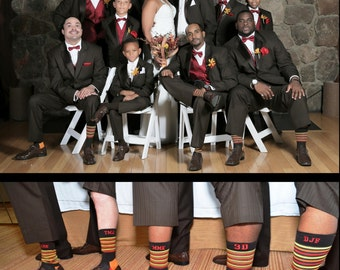 Personalization on  groomsmen socks you provide socks