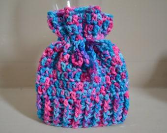 Crocheted Sack Hat 0-3 Months Cotton Candy Dreams Colour Photo Prop