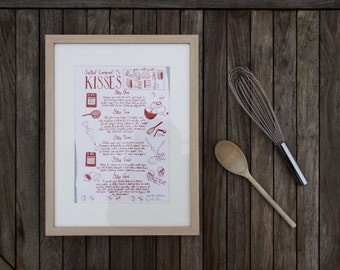 Salted Caramel Kisses - Recipe Print