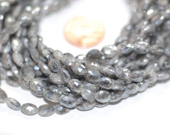 Gray Oval Mystic Corundum Faceted (Coated)