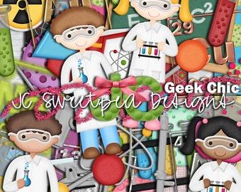 Geek Chic - Chemistry Digital Scrapbooking Kit