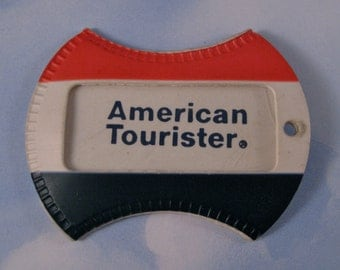 American Tourister Luggage Tag Vintage circa 1960s Never Used Travel Souvenir/ Airline Collectible