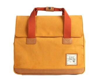 Webbing227 Multi Backpack and Shoulder and Tote Bag (Mustard)