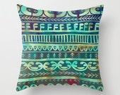 Noni - Green  Pillow 16x16 cover - SchatziBrown