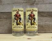 Captain Morgan Bottles Re-Purposed as 20 oz Tumblers-Set of 2