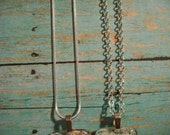 Sterling-plated chains for map pendants.