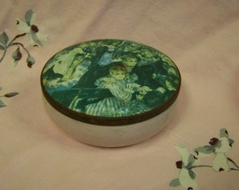 Vintage Dusting Powder Tin Sassique Powder Tin Renoir Tin Regency Cosmetics Tin