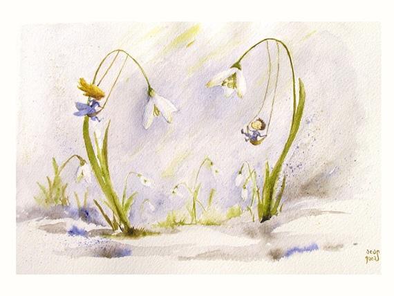 Snowdrop Flower Fairy Snowdrop Spring Fairies Swing
