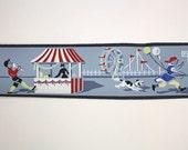 Full Vintage Wallpaper Border- TRIMZ- Novelty Childrens Fair Carnival Rides, Games, and Balloons