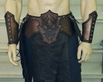 Leather Armor Fantasy Gladiator Set larp cosplay