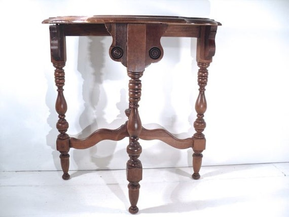 Antique Side Table Small Demilune Table By Perfectpatina