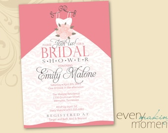 Bridal Shower Invitation -- custom, printable, digital -- Wedding Shower Invite