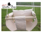 Portable Outdoor Indoor Fabric Baby Infant Swing to Toddler Tree Swing - Baby Outdoor Toy in Off White