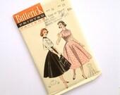 Vintage 50s Sleeveless Dress Sewing Pattern Butterick 7243 Size 14