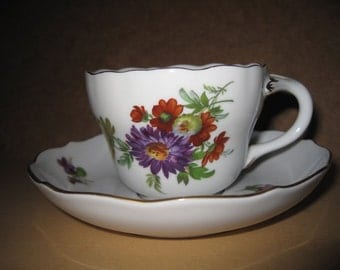 Old Cup Thuringian Volkstedt Hand painted