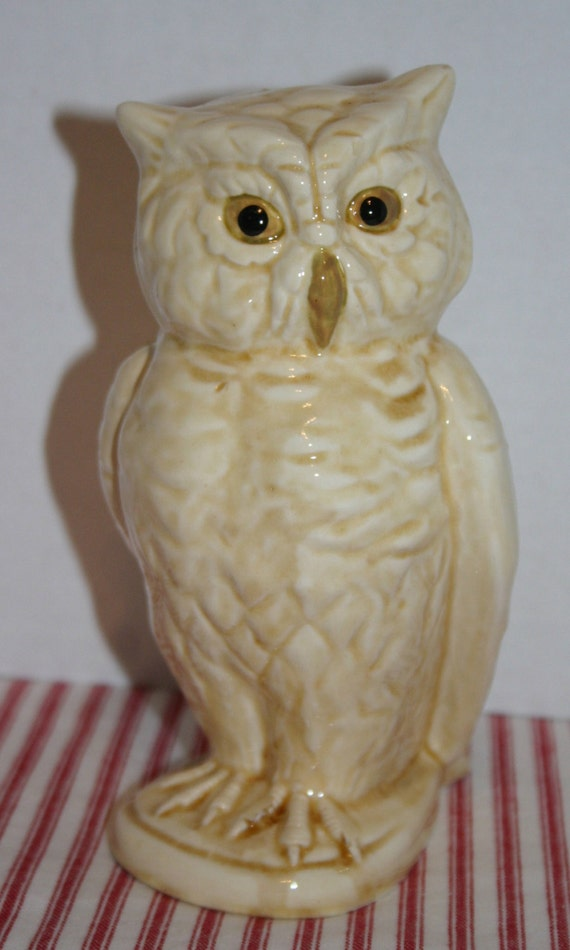 Owl Figurine Ceramic