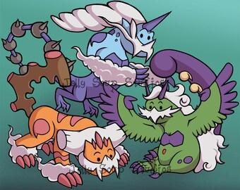 Therian Genie Pokemon 8x10 Print