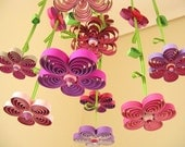 Quilling - Baby Mobile - Purple Quilled Paper Mobile - Crib Mobile - Quilling Flowers - Baby Gift - Baby Shower Gift 1H.