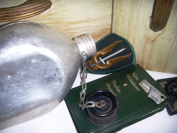 Vintage Military Canteen.  Stainless Steel. Japan.