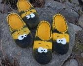 Handmade Bee slippers