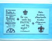 FAITH Verses Decor. If you have Faith as small as a mustard seed.Nothing..Matthew 17:20. Walk by FAITH..2 Corinthians 5.7.  Hebrews 11.1 Art