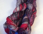 SALE Trick on Superwash Single Hand dyed fingering weight sock yarn