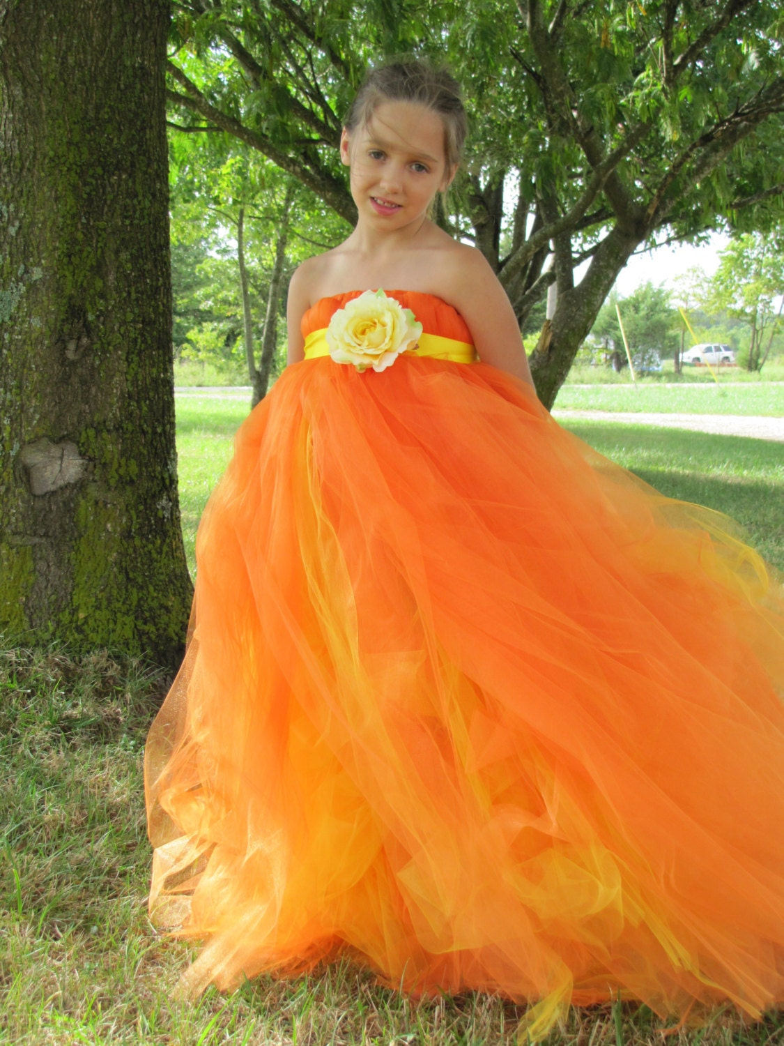 Flower girl dresses orange and yellow wedding dresses flower girl dresses orange and yellow 44 izmirmasajfo