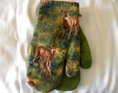 Oven Mitts, Deer, Rustic, Woodland, Country Oven Mitts, Father's Day, Deer Hunter