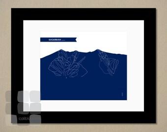Sugarbush Trail Map - 8x10 - Modern Art Print