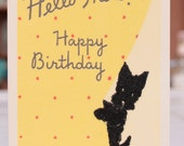 Birthday Card with Scottish Terrier