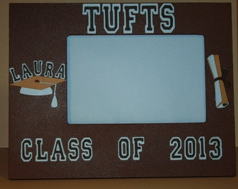 Tufts University personalized graduation picture frame