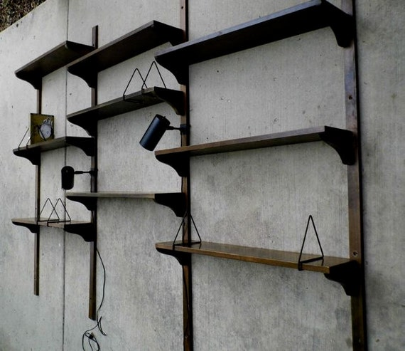 Whoa Age Swap On A Few Of Them There That Would Be: SALE: Mid Century Modern Danish Scandinavian Wood Shelving