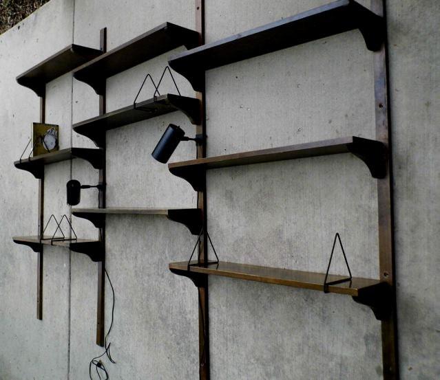 SALE: Mid Century Modern Danish Scandinavian Wood Shelving