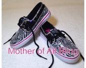 Swarovski Crystal Zebra Sperry Shoes