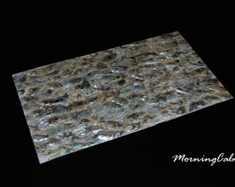 Green Abalone Veneer Sheet (Shell Overlay Inlay Nacre for Luthier, Fishing Lure)