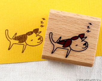 50% OFF SALE Sleep dog Rubber stamp