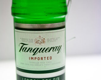 Tanqueray Gin Ornament-- Tanqueray Gin Themed Christmas Tree Ornament.