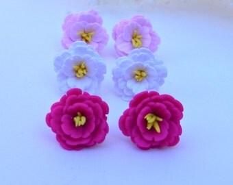 Cherry Blossom Stud Earrings, White Cherry Blossom, Pink Cherry Blossom, Flower Earrings, Spring Jewelry, Cherry Blossom