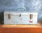 Vintage Industrial Toolbox Union Super Steel Removable Tray - jalopee