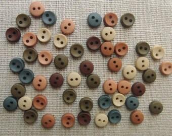 "Buttons / 40 plus country colour miniature buttons / 0.25"" (6.3 mm)"