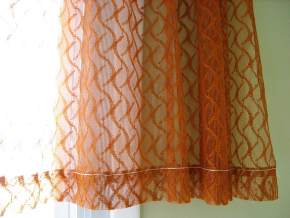 Burnt Orange Curtain Panels Rust Sheer Curtains