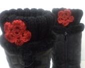 Shoes, Cuff, Knit boot cuffs, leg warmers, black boot cuffs, Leg Warmer, shoes accessories, women fashion accessories, gift ideas