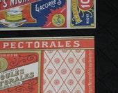 2 Antique French Paper Labels - Vibrant Colors, Great Graphics - Vintage Ephemera, Supplies - NOS