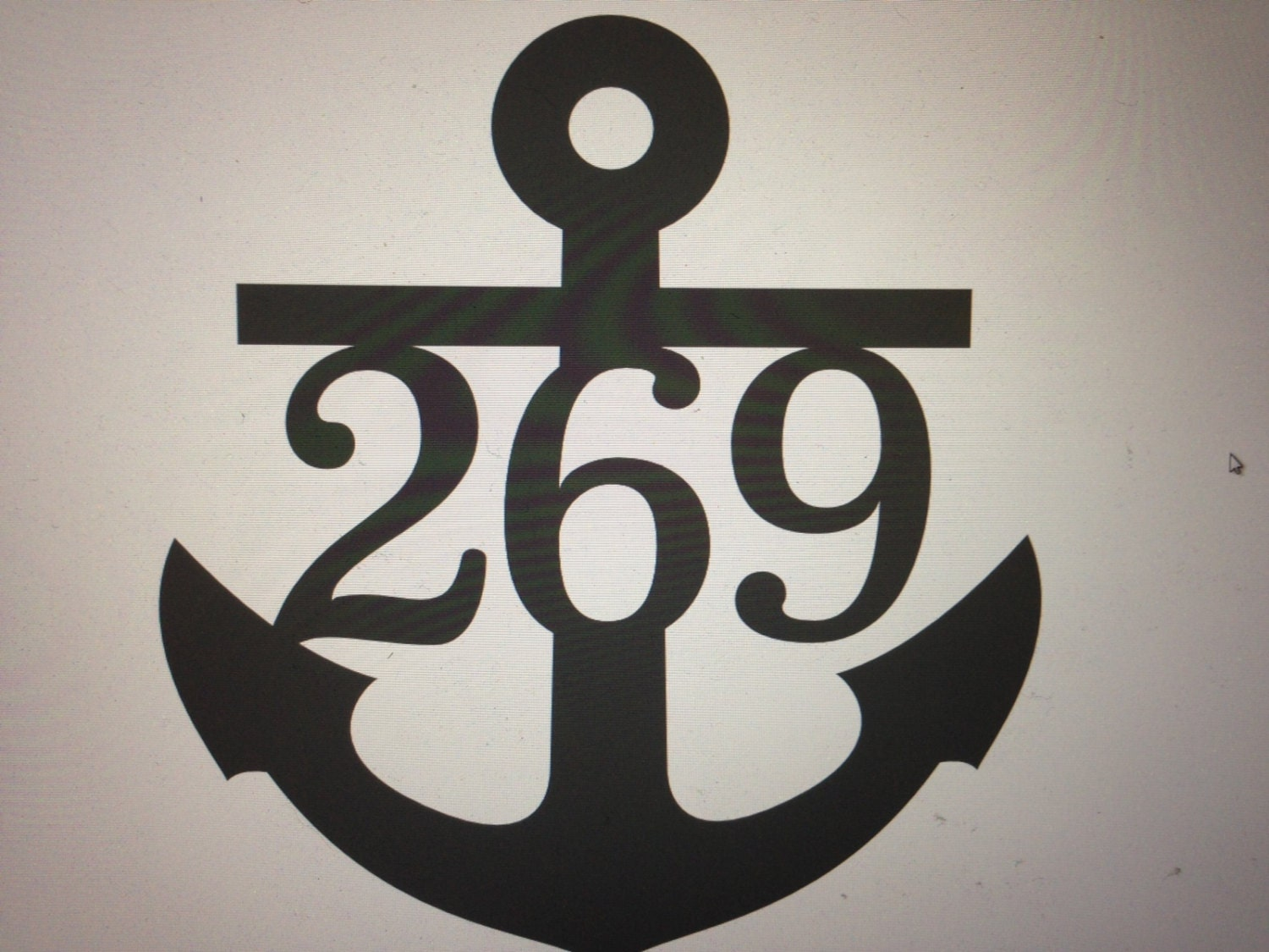 Anchor house numbers anchor signs beach themed ocean for House sign designs