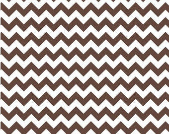Small Chevron Brown  by Riley Blake Designs Half  Yard Cut
