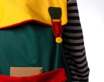 Colorful Backpack, Canvas Backpack, Laptop Backpack, Fabric Backpack, Color Block Backpack, Crochet Backpack, Big Backpack, Unique Backpack