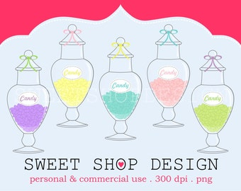 Candy Jar Clip Art, Baking or Cooking Clip Art, Royalty Free Clip Art, N02, Instant Download